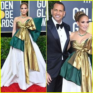 Jennifer Lopez is Supported by Alex Rodriguez at Golden Globes 2020
