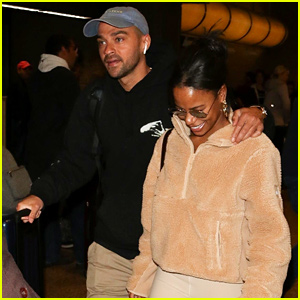 Jesse Williams & Girlfriend Taylour Paige Are All Smiles While Arriving for Sundance