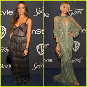 Longtime Friends Jessica Alba & Jaime King Both Shimmer at Golden Globes After Party