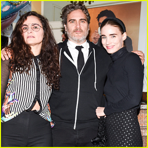 Joaquin Phoenix & Fiancee Rooney Mara Couple Up at W Magazine's Pre-Globes Party!
