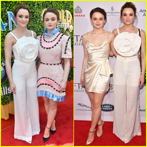 Joey King & Sister Hunter Attend Parties During Golden Globes Weekend!