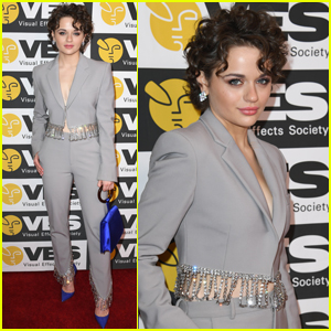 Joey King Suits Up for Visual Effects Society Awards 2020