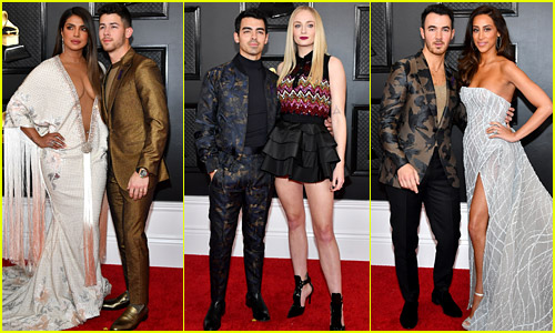 Jonas Brothers Bring Their Wives to Grammys 2020 - See Red Carpet Photos!