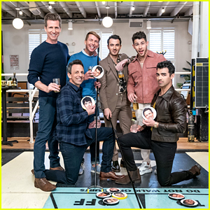 The Jonas Brothers & Seth Meyers Go Day Drinking - Watch! (Video)
