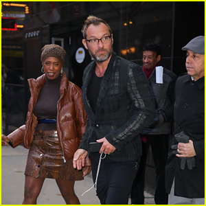 Jude Law Looks Stylish After 'Good Morning America' Appearance in NYC