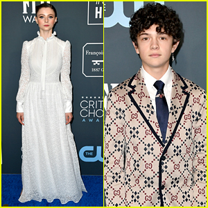 Young Hollywood Stars Thomasin McKenzie & Noah Jupe Step Out For Critics' Choice Awards 2020
