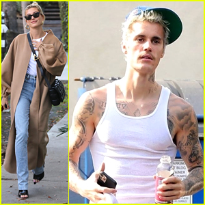 Justin & Hailey Bieber Run Errands Around LA Ahead of the Long Weekend