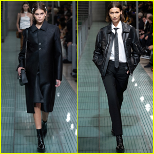 Kaia Gerber & Bella Hadid Strut Their Stuff on Paris Runway