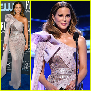 Kate Beckinsale Cuts Off Announcer During 'Avengers: Endgame' Win at Critics Choice Awards 2020!