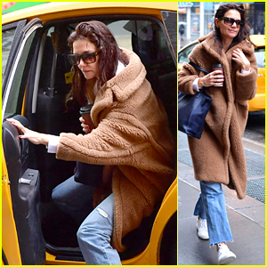 Katie Holmes Kicks Off the New Year With a Spa Day in NYC