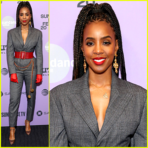 Kelly Rowland Rocks Red Gloves For 'Bad Hair' Premiere at Sundance Film Festival 2020