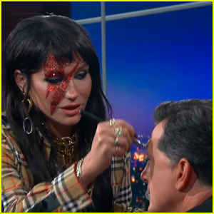Kesha Helps Transform Stephen Colbert into David Bowie - Watch!