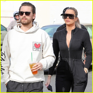 Khloe Kardashian Shows Off Her Curves at Lunch with Scott Disick