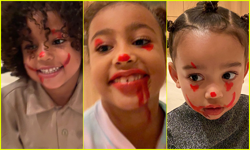 Kim Kardashian's Kids Did 'It' Clown Makeup (& Ruined Her Couch!)