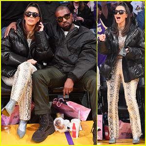 Kim Kardashian & Kanye West Sit Courtside To Cheer On Lakers Against Khloé's Ex Tristan Thompson!