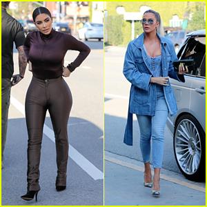 Kim & Khloe Kardashian Go Shopping Together at Sap & Honey in Sherman Oaks