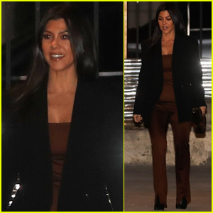 Kourtney Kardashian is All Smiles Arriving at Weekly Church Service