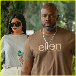 Kylie Jenner Meets Up with Corey Gamble for Lunch