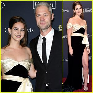 Lana Del Rey & Boyfriend Sean Larkin Make Red Carpet Debut at Clive Davis' Pre-Grammys Gala!