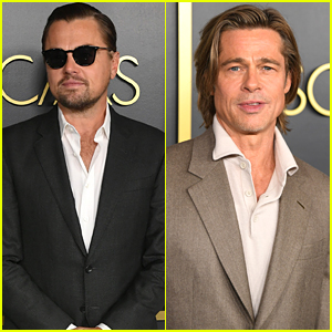 Leonardo DiCaprio & Brad Pitt Step Out For Oscars Nominee Luncheon