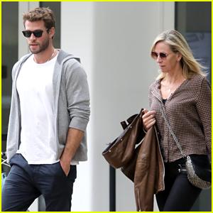 Liam Hemsworth Grabs Lunch With Mom Leonie in Santa Monica