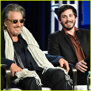 Logan Lerman Talks 'Hunters' With Al Pacino at Winter TCA Press Day