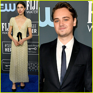 Margaret Qualley & Dean-Charles Chapman Hit Critics' Choice Awards 2020 Blue Carpet
