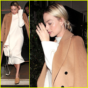 Margot Robbie Makes Lowkey & Stylish Exit After Dinner in London