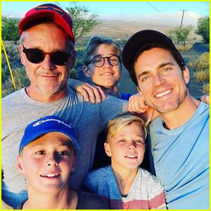 Matt Bomer Shares Rare Photo with Husband Simon Halls & Three Sons!