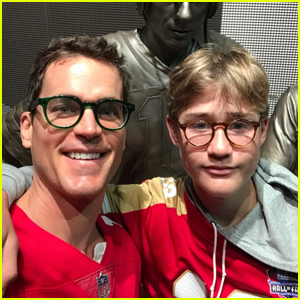 Matt Bomer Enjoys Day Out at 49ers Game with Son Kit!