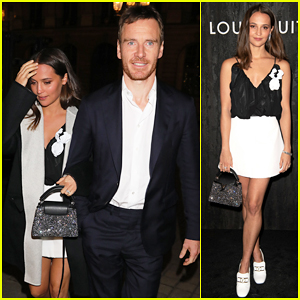 Michael Fassbender Joins Alicia Vikander at Louis Vuitton's Jewelry Launch!