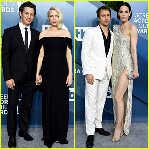Pregnant Michelle Williams & Fiance Thomas Kail Hold Hands on SAG Awards 2020 Red Carpet!