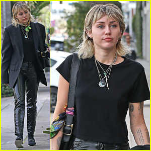 Miley Cyrus Shows Off Her Punk Style at a Recording Studio