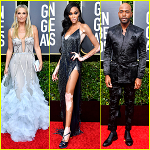 Molly Sims, Winnie Harlow & Karamo Brown Step Out In Major Style For Golden Globes 2020