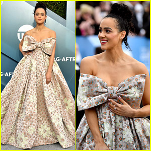 Game of Thrones' Nathalie Emmanuel Is Wrapped with a Bow at SAG Awards 2020