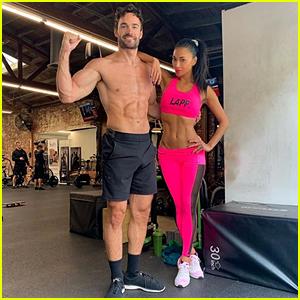 Nicole Scherzinger & Boyfriend Thom Evans Show Off Their Ripped Bodies During a Workout