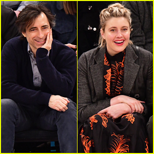 Noah Baumbach & Greta Gerwig Sit Courtside for New Years Day Game!