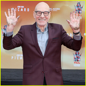 Patrick Stewart Honored at Hand & Footprint Ceremony in Hollywood!