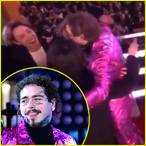 Post Malone Rings In 2020 in NYC With A Hug From BTS!