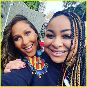 Raven Symone & Adrienne Bailon Have 'Cheetah Girls' Reunion at Women's March 2020!