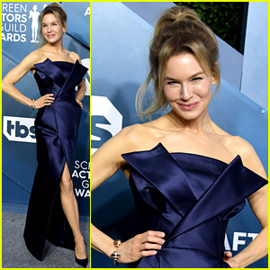 Renee Zellweger Looks Elegant in Dark Blue at SAG Awards 2020
