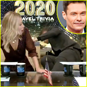 Ryan Seacrest Falls Off His Chair on Live TV - Watch the Video