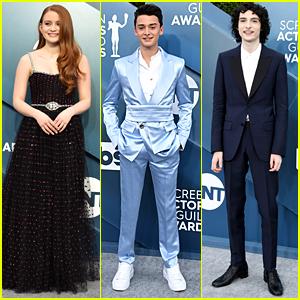 Sadie Sink, Finn Wolfhard & Noah Schnapp Bring More 'Stranger Things' To SAG Awards 2020