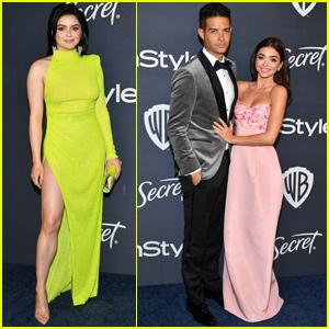 Sarah Hyland & Ariel Winter Get Glam For Golden Globes After Parties!