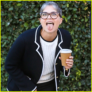 Selma Blair Sticks Out Her Tongue at Paparazzi During Coffee Run in LA