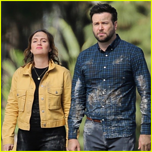 Leighton Meester & Taran Killam Film Scenes for 'Single Parents'