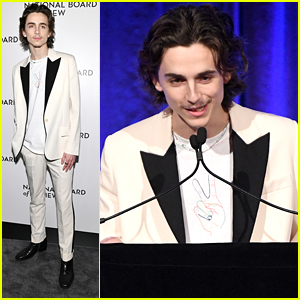 Timothee Chalamet Sports a Goatee For National Board of Review Gala 2020