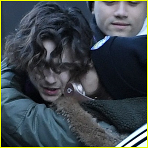 Timothee Chalamet Gets a Kiss From His Sister While Greeting Fans in NYC