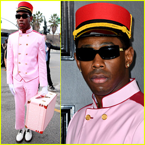 Tyler the Creator Wears Pink Bellhop Outfit to Grammys 2020