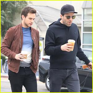 Zachary Quinto & Brandon Flynn Go For a Walk in the Park